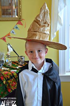 Love this diy to make your own harry potter sorting hat -- so clever!