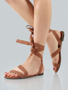 Shop Ankle Wrap Faux Suede Sandals MOCHA online. SheIn offers Ankle Wrap Faux Suede Sandals MOCHA & more to fit your fashionable needs.