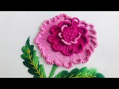Brazilian Embroidery Stitches, Jacobean Embroidery, Hand Embroidery Videos, Embroidery Stitches Tutorial, Hand Embroidery Patterns Flowers, Hand Embroidery Designs, Flower Video, Fabric Stamping, Creative Embroidery