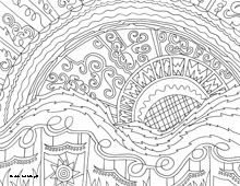 coloring pages sunrise - photo#33
