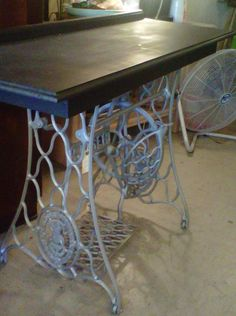 Desk out of Singer sewing machine table I have.  Can't wait to do this one!!!
