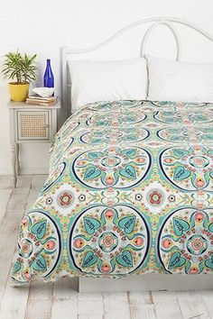 UrbanOutfitters.com > Painted Medallions Duvet Cover. Can't wait for this to brighten up my room!