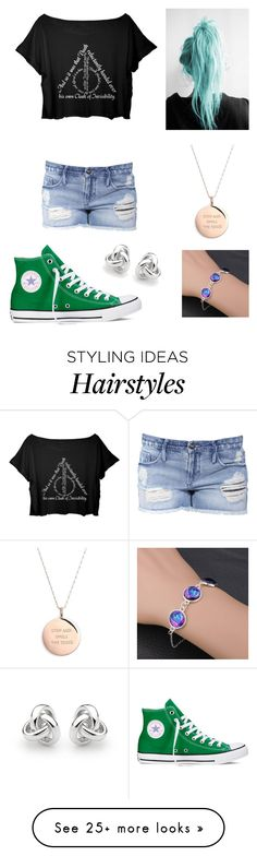 """""""Love the hair!❤️"""" by broadway-freak on Polyvore featuring Black Orchid, Converse, Kate Spade and Georgini"""