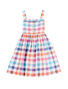 Buy the Pure Cotton Checked Dress Years) from Marks and Spencer's range. Cute Little Girl Dresses, Dresses Kids Girl, Kids Outfits, Cotton Frocks For Kids, Frocks For Girls, Kids Frocks Design, Baby Girl Dress Patterns, Fancy Blouse Designs, Seersucker Dress