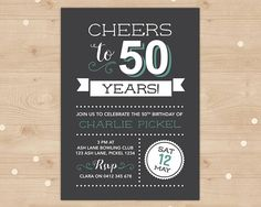 Cheers To 40 Years 40th Birthday Invitation For Any Age Vintage Invitations