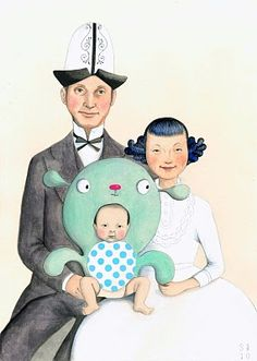 possibly favorite family portrait ever. - Sophie Blackall (freaking rad artist)
