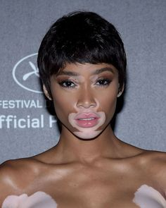 Ok, it might be a wig, but we're all about Winnie Harlow's ode to the pixie crop.