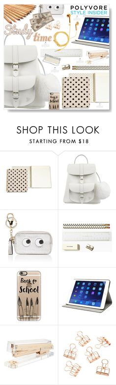 """Study time..."" by desert-belle ❤ liked on Polyvore featuring Kate Spade, Grafea, Anya Hindmarch, Casetify, M-Edge and PhunkeeTree"