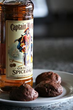 captain morgan spiced rum chewy chocolate cookies