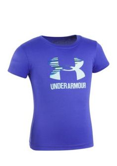 Under Armour Split Logo Short Sleeve Shirt Girls 4-6X - Constellation Purple - 6X
