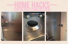 How to clean stainless steel appliances- I often find stainless steel cleaners don't produce streak free results on varying stainless steel appliances. Read my blog for a universal cleaning method for all of your stainless steel appliances- just click the picture :)