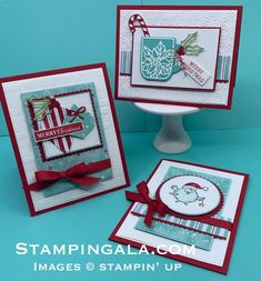 August 2019 Kits in the Mail & Christmas Card Class I am so excited to announce my first Christmas Class of the season. This class consist of six cards, three designs, two of each. These projects are created with products from Stampin' Up's brand new H Homemade Christmas Cards, Stampin Up Christmas, Christmas Cards To Make, Xmas Cards, Handmade Christmas, Homemade Cards, Holiday Cards, Christmas Diy, Christmas Coffee