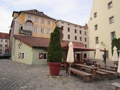 The Historic Sausage Kitchen in Regensburg, Germany - has been the site of a sausage stand since the 1600's