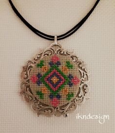 #necklace #kolye #crossstitch #kanaviçe #çarpıişi #handmade