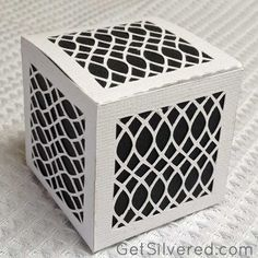 Free Silhouette Cameo Cut File for a little lattice Gift box. GetSilvered.com