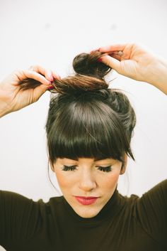 LOVE TAZA top knot hair tutorial-6
