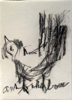 Currently at the Catawiki auctions: Anton Heyboer - 'Rooster' - Crayon on paper, signed