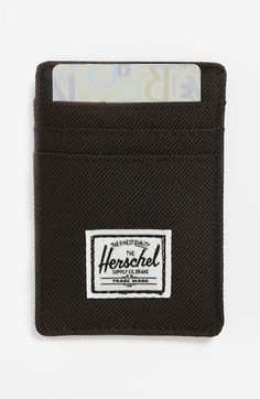 Herschel Supply Co. 'Raven' Card Case available at #Nordstrom