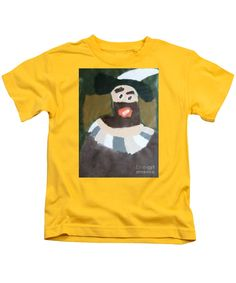 Patrick Francis Designer Kids Yellow T-Shirt featuring the painting Rembrandt - After Rembrandt Self-portrait by Patrick Francis