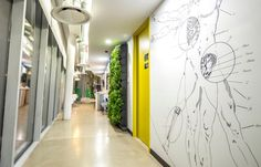 An office in Mexico City by spAce Arquitectura and Petagono Estudio.