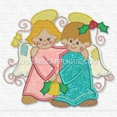 Your source for FREE embroidery designs, quilting and sewing patterns, and other resources! Embroidery Files, Embroidery Applique, Embroidery Patterns, Sewing Patterns, Christmas Angels, Christmas Ornaments, Christmas Embroidery, Free Machine Embroidery Designs, Bible Journal