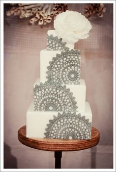 Mexican Wedding Cake Idea - reminds me of my Nana's crocheted doilies