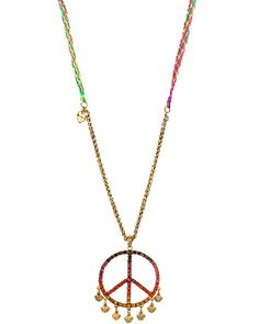 ST BARTS PEACE NECKLACE MULTI accessories jewelry necklaces fashion