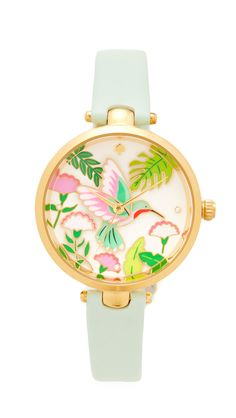 Kate Spade New York Novelty Leather Watch Affiliate Marc Jacobs, Tory Burch, Kate Spade Watch, Michael Kors, Leather Jewelry, Fashion Watches, Gold Watch, Bracelet Watch, Jewelry Watches