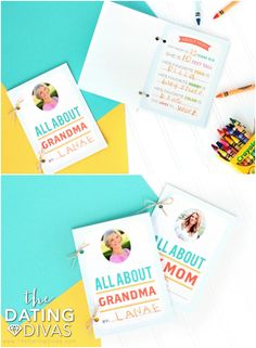 "Mother's Day Idea- printable ""All About Mom"" and ""All About Grandma"" booklets for kids to make. SO cute!"