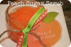 DIY Peach Sugar Scrub Recipe