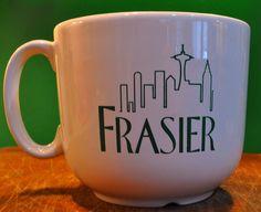 NBC Frasier coffee cup Frasier Cheers, Brewing, Coffee Cups, Mugs, Tableware, Tattoo Ideas, Films, Dining, Breakfast