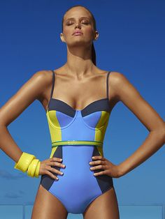 Love the colors. Clarity one-piece swimsuit by Jets Swimwear