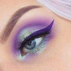 Sombras llenas de color #Eyes #EyeShadow #Purple #EyeLiner #Pretty #Style #Colorful