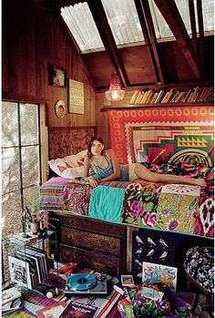 Boho Decor Ideas Adding Chic and Style to Modern Interior Decorating - home decorating in Bohemian style – this will be my bedroom in my weekend cabin in the woods when - Home Design, Interior Design, Global Design, Interior Modern, Interior Office, Design Design, Design Ideas, Design Room, Modern Interiors