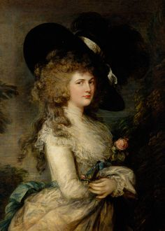 PORTRAIT OF GEORGIANA, DUCHESS OF DEVONSHIRE, BY THOMAS GAINSBOROUGH, 1787