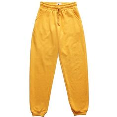 Women's Melody Ehsani Me. Rose Sweatpants ($50) ❤ liked on Polyvore featuring activewear, activewear pants and mustard