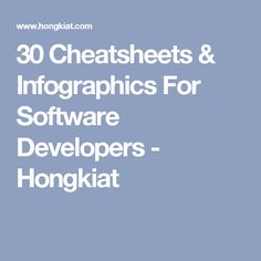 30 Cheatsheets & Infographics For Software Developers - Hongkiat
