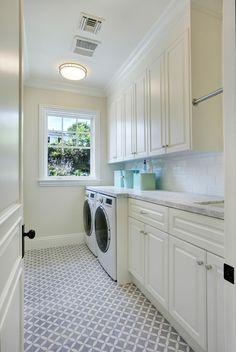 Laundry Room. Laundry Room Flooring. Laundry Room Cabinet. Laundry Room Cabinet Paint Color. Laundry Room Decor. #LaundryRoom Dtm Interiors.