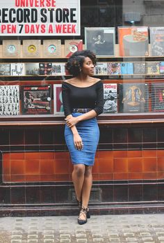Check out these chic denim skirt outfit ideas and products at @stylecaster | @inmysundaybest blogger