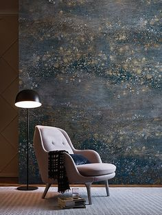 Wallpaper MILKY WAY Contemporary Wallpaper 2017 Collection By Wall&decò design Eva Germani Inspiration Wand, Stunning Wallpapers, Contemporary Wallpaper, Wall Finishes, Wall Treatments, Wall Wallpaper, Designer Wallpaper, Bedroom Wall, House Design