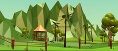 The Farm 2.  # lowpoly # blender3d # illustration # cgi # landscape