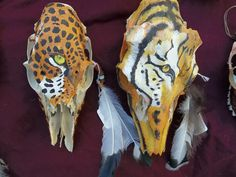 painted deer skulls.. 2 of many