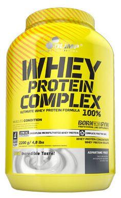 Olimp Whey Protein Complex %100 2200 gr, zengin amino asit profiline sahip yüksek kalitede üretilmiş, konsantre ve izole whey  içeren protein tozu, supplement ürünüdür. Olimp Whey Protein, en kaliteli hammadde seçimi ve CFM filtreleme teknolojisi sayesinde yüksek emilim hızına sahiptir.