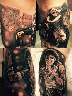 Michael Jackson Pieza de realismo por Mauro Denhoff