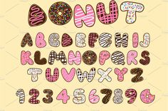 10 Donut Projects and Printables. For the love of donuts! Get creative with ten fun donut themed projects and printables. Pencil Illustration, Graphic Illustration, Illustrations, Donuts, Bubble Letter Fonts, Png Vector, Hand Lettering Alphabet, Alphabet Design, Alphabet Letters