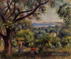 Pierre Auguste Renoir Cagnes Landscape oil painting reproductions for sale