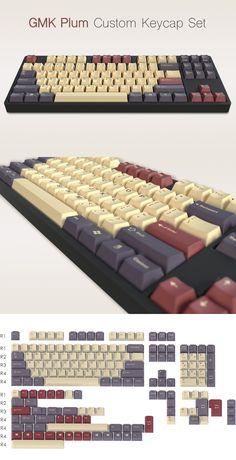 Checkout the Massdrop x Jessica - GMK Plum Custom Keycap Set /// Planck and Ergodox sets are available here: https://www.massdrop.com/buy/gmk-plum-add-on-keycap-kit #plum #keycaps #keyboards