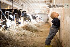 Wisconsin Dairy Farmer Family