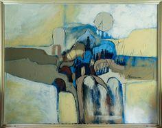 "Oil on Canvas by FrankFerrante (American1898-1992) 42"" tall x  52"" wide."
