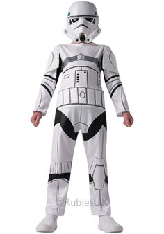 Shop now to get this classic star wars stormtrooper costume. A great fancy dress option for your next costume party. Fancy Dress Costumes Kids, Book Day Costumes, Fancy Dress For Kids, Up Costumes, Halloween Fancy Dress, Family Costumes, Star Wars Stormtrooper Costume, Costume Star Wars, Star Wars Rebels